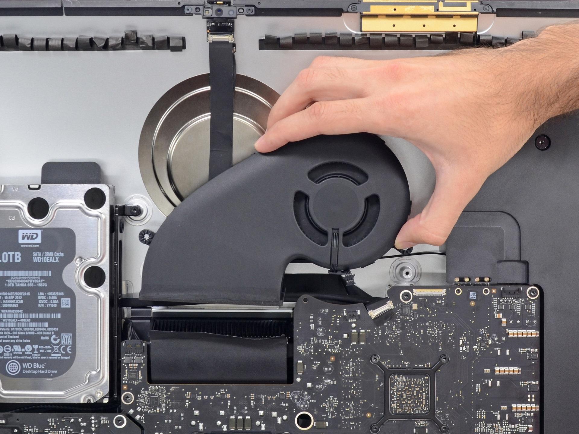 Профилактика (чистка, замена термопасты) системы охлаждения iMac